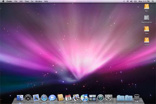 Mac OS X menu bar